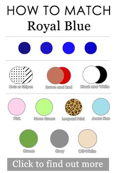 Find out more : https://youtu.be/HDE4y5dR59M  How to match royal blue/cobalt/azure in outfits.