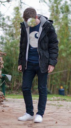 db281df45102 American Apparel hoodie Uniqlo down jacket Carharrt WIP tee Uniqlo skinny  jeans Erik Schedin shoes Uniqlo