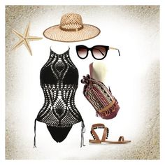 """""""indie beach vibes"""" by bellafawxo on Polyvore featuring Thierry Lasry and Henri Bendel"""