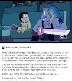 Bismuth is the only one who told Steven that he didn't have to be like Rose.