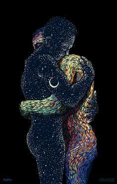 El universo respira y tu mente se relaja con los GIF producto de la colaboración entre James R. Eads y The Glitch.