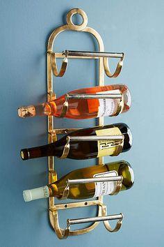 Anthropologie Antique Brass Wine Rack #wine #affiliate