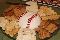 Baseball Cheese = Baby shower appetizer!