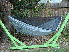 Backyard DIY Hammock Stand and DIY Hammock