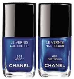 CHANEL Blue Rhythm Le Vernis...love these shades for summer!