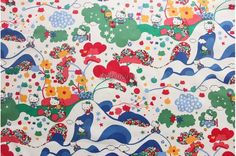4 pcs of Liberty fabrics printed in Japan Hello Kitty by lilymeru