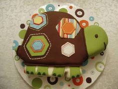 turtle cake - I guess I'd have fondant if it was THIS cute! Fancy Cakes, Cute Cakes, Turtle Birthday, Birthday Cake, Pastry Art, Cookie Designs, Love Cake, Creative Cakes, Cake Creations