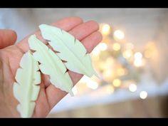 Как сделать шоколадные Перья / How to Make Chocolate Feathers - YouTube