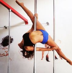 "The ""Alegra"" pole dance move At funky goddess studio - Israel"