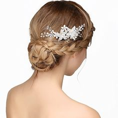 Amazon.com : Nymph Code Bridal Pearls Hair Flower Clear Crystal Decor Side Combs Wedding Accessories for Women Styling : Beauty