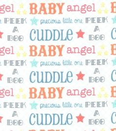 Snuggle Flannel Fabric- Precious Words