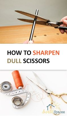 Dull scissors are one of home keeping's little annoyances. Even if you just bought them, scissors can become dull before you realize it. Knowing how to sharpen your scissors will be on… Sewing Hacks, Sewing Tutorials, Sewing Crafts, Sewing Tips, Sewing Ideas, How To Sharpen Scissors, Leftover Fabric, Sewing Rooms, Love Sewing