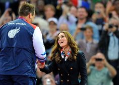 Duchess Catherine presenting medals at the Paralympian games 2 Sept 2012