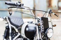 "Corb#2 ""Bielsa"" handlebar by Corb Motorcycles. I like the windscreen"