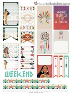 FREE Pocahontas Planner Printable by Victoria Thatcher
