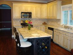 Awesome Painted Oak Cabinets before and after
