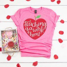 Teacher Valentine, Valentines Day Shirts, Valentines Diy, Valentine Day Gifts, Valentines Day Outfits Casual, Vinyl Shirts, Diy Valentine's Shirts, Custom Shirts, Tee Shirts