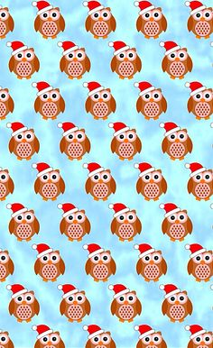 Owl Christmas iPhone wallpaper