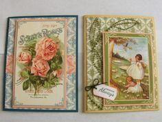 April Card Crop cards 3 and 4 - Graphic 45 Secret Garden