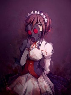 [C] Mary -Gas Mask Maid- by Likesac on DeviantArt Girls Characters, Fantasy Characters, Anime Characters, Echii Anime, Gas Mask Girl, Creepypasta Oc, Lol League Of Legends, Masks Art, Fantasy World