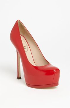 I WANT WANT WANT THIS!!  Yves Saint Laurent 'Tribtoo' Leather Platform Pump available at #Nordstrom
