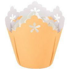 Peach Flower Pleated Cupcake Liners by Wilton