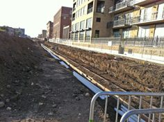 Westbound side of University Avenue. 9.12.2011