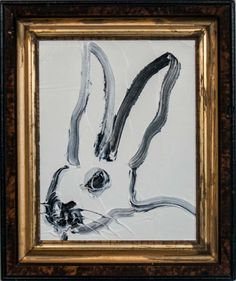 White Bunny | From a unique collection of paintings at https://www.1stdibs.com/art/paintings/