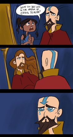 hahahaha! Legend of Korra/ Harry Potter. Not that he is actually bald, but this is too funny.