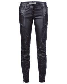 Balmain Leather Biker Leggings