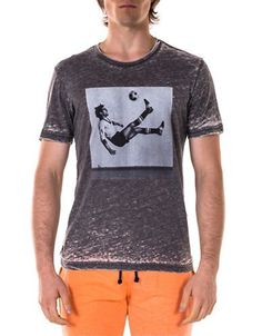 Spenglish Soccer Player Tee Men's Grey XX-Large