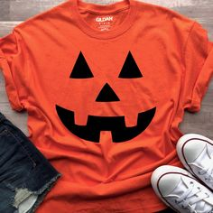 Halloween Shirt Pumpkin Face Shirt Pumpkin Shirt H Goddaughter Gifts, Niece Gifts, Auntie Gifts, Bff Gifts, Grandma Gifts, Best Friend Gifts, Kids Gifts, Disney Halloween Shirts, Disney Shirts For Family