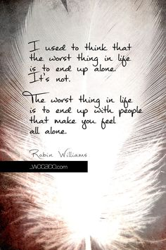 I Used to Think - Robin Williams Quote by WOCADO