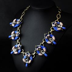 WHOLESALE FASHION JEWELRY ACCESSORIES NEW DESIGN TOP SELLING LADY MIXED BIB STATEMENT LUXURY NECKLACE COLLAR