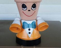 Sally Planter Pot Person Pot People Halloween by GARDENFRIENDSNJ