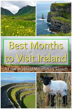 ireland travel When is the best time to visit Ireland? We say, whenever the opportunity presents itself! Of course, each season has its advantages and disadvantages. From the weather to the crowds Backpacking Ireland, Ireland Travel Guide, Dublin Travel, Travel List, Ireland Destinations, Ireland Hotels, Travel Destinations, Ireland In Spring, Dublin Attractions