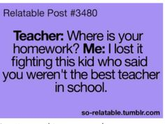 ...I really should have tried that in school.