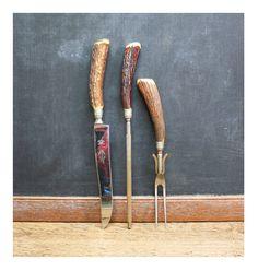 @Lauren Morton-Farmer you need these. Vintage Antler Carving Tools - Vintage Rustic by AuroraMills, $65.00