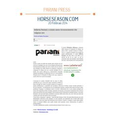 THANK YOU Horseason.com for talking about us!  Selleria Pariani #selle #storiaetradizione