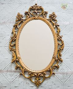 SOLD OUT*** Large Rococo Mirror, Vintage French Baroque Gold Mirror, Oval Baroque Gold Frame Mirror, Oval Ornate Gold Antique Mirror, Classic Mirror by LaMaisonShabbyChic on Etsy Large Framed Mirrors, Gold Framed Mirror, Framing Mirrors, Gold Mirrors, Bathroom Mirrors, Antique Mirrors For Sale, Vintage Mirrors, Picture Frame Decor, Wall Decor Pictures