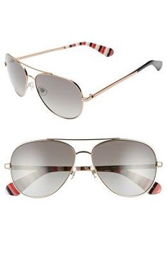 708bb516594 KATE SPADE NEW YORK Designer avaline 2 58mm polarized aviator sunglasses
