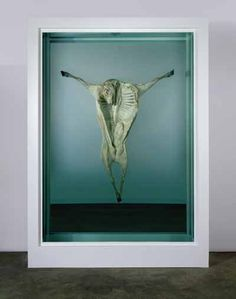 Damien Hirst: In Nomine Patris (In the Name of the Father), Mirror, aluminium, steel bolts, sheep and formaldehyde solution x x in Beautiful Dark Art, Damien Hirst, English Artists, Animal Projects, Weird Art, Conceptual Art, Art History, Contemporary Art, Illustration Art
