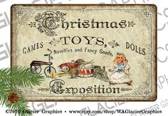 Vintage Country Christmas Toy Exposition by WAGlacierGraphics