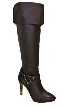 Ros Hommerson Women's Tease Super Wide Calf� Over-the-Knee (Brown Leather)