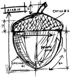 tim-holtz-p1-1938-acorn-sketch.png 727×800 pixels