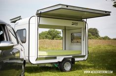 This tiny trailer can comfortably sleep two at night, while toting a bunch of your gear while on the road.