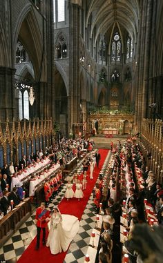 Westminister Abbey  ~~ the royal wedding of Catherine & William