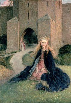 Bella durmiente antes de pincharse el dedo by Hanna Pauli (Swedish, 1864-1940)