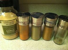Homemade Chili Powder. I added red chili pepper flakes and Garlic and Wine Seasoning from the Melting Pot
