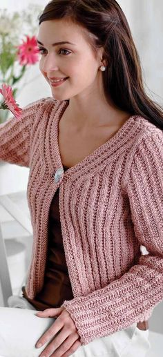 Knitting Pattern for Mixed Stitches Cardigan #ad One of 6 patterns by Melissa Leapman in Cardigans With A Conscience | More pics at LeisureArts.com
